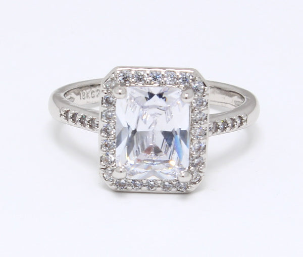 Stunning-CZ-Diamond-Ring-in-White-Gold-Plated-Diamond-Embedded-Set-Emerald-Cut-Solitaire