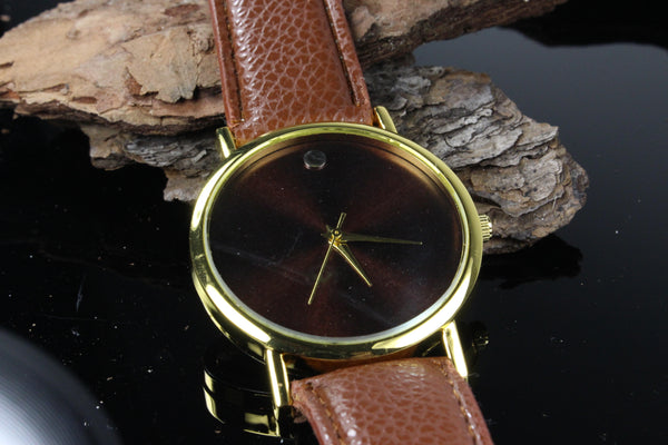 Mens-Classic-Brown-Watch-Brown-Leather-Band