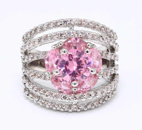 pink-cubic-zirconia-ring-flower-design-cocktail-platinum-plated