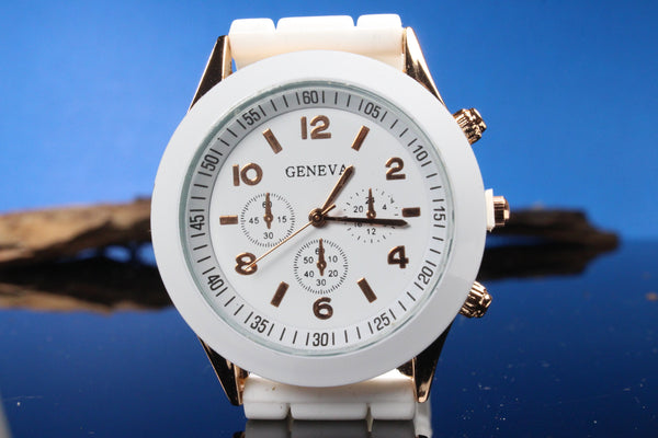White-and-Gold-Watch-White-Polymer-Watch-Band