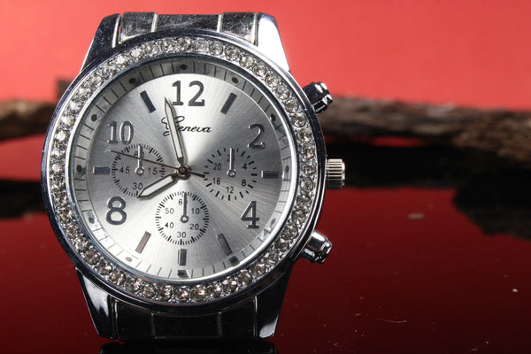 Womens-White-Gold-Stainless-Steel-Watch