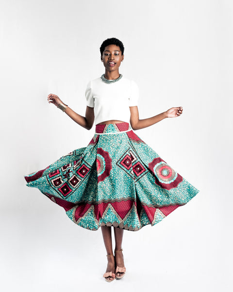 Regal Wax Print Skirt
