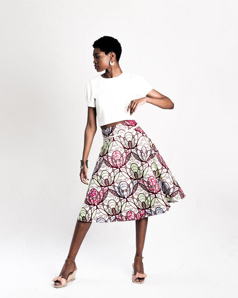 Joyful Wax Print Skirt
