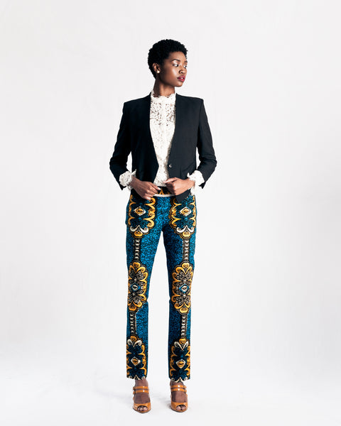 Purposeful Wax Print Pants