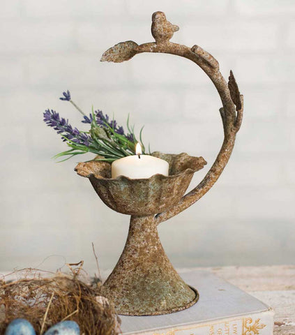 Bird on a Branch Candle Stand