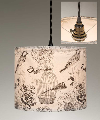 "CTW Fabric/Canvas Pendant Lamps - 12"" dia x 9½""T (various styles)"