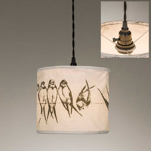 "CTW Fabric/Canvas Pendant Lamps - 9"" dia x 8""T (various styles)"