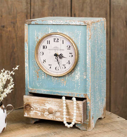 Blue Tabletop Clock