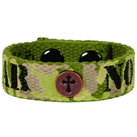 Faith Gear Canvas Bracelet - Fear Not Camo