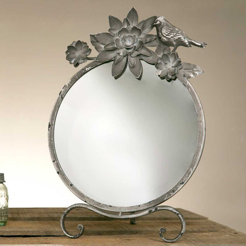 CTW Chrysanthemum Tabletop Mirror