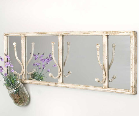 CTW Entryway Mirror with Wall Hooks