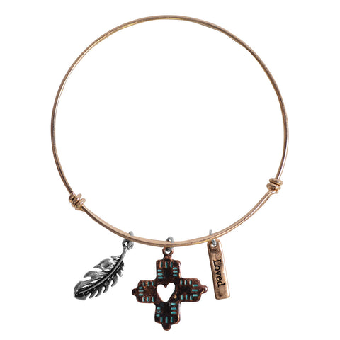 Faith Gear Women's Bracelet - Feathers