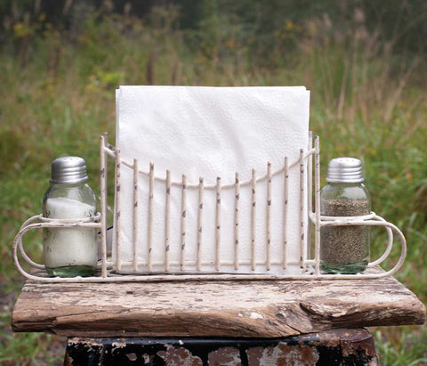 CTW Garden Gate Salt Pepper and Napkin Caddy