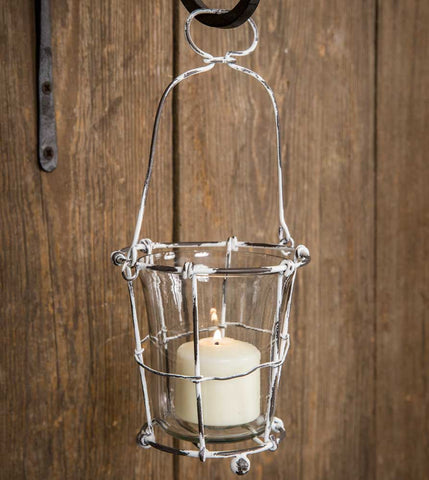 CTW Hanging Wire Votive Holder with Glass