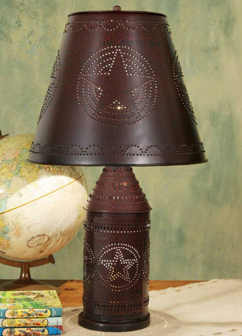 CTW Large Paul Revere 4-Way Lamp - Crackle Black/Red