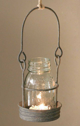 CTW ¼ Pint Hanging Mason Jar Candle Holder