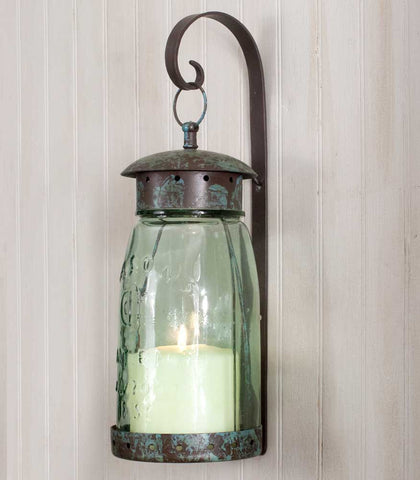 CTW Quart Mason Jar Hanging Wall Sconce