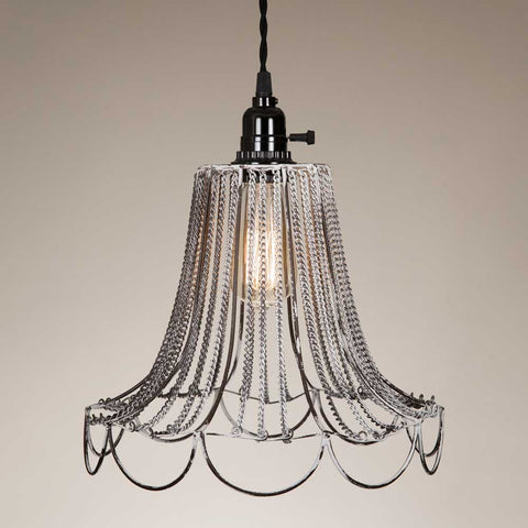 CTW Shabby Chic Wire Pendant Lamp
