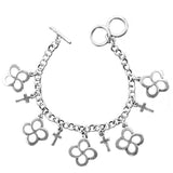 Faith Gear Women's Bracelet - Swirl Cross Silver