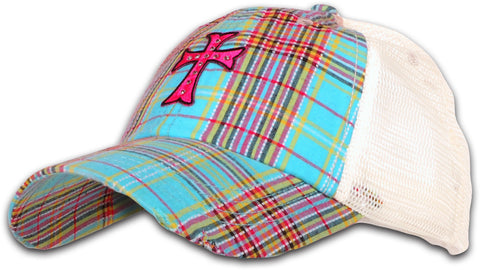 Cap - Plaid Cross