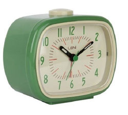 Vintage Retro Alarm Clock - Green