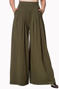 Banned Apparel Indiana Trouser Army Green XS - XL