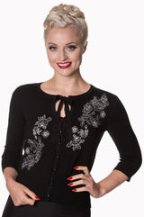 Dancing Days Banned Delilah Cardigan Black XS - XL