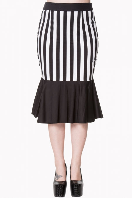 Banned Apparel Heart To Heart Midi Skirt