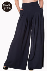 Banned Apparel Indiana Trouser Navy Plus
