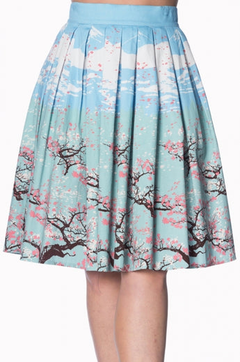Banned Dancing Days Oriental Blossom Skirt : Small to 4X-Large