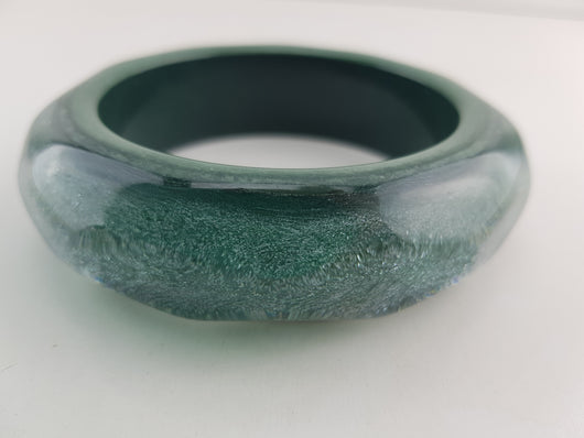 Glitter Chunky Bangle in Green