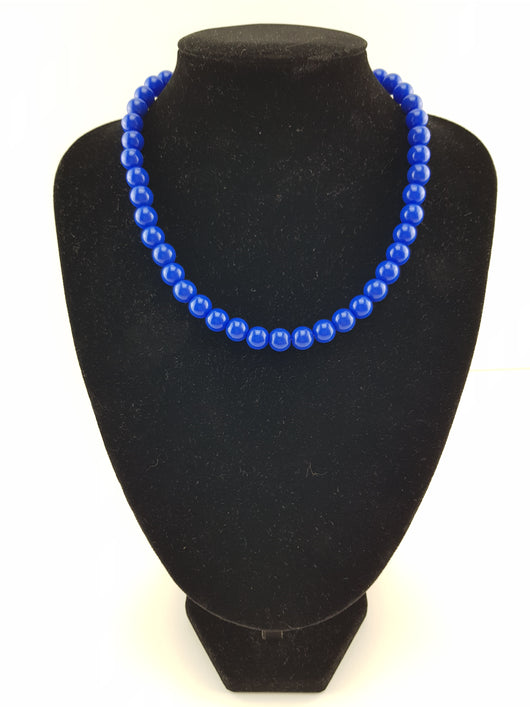 Counter Culture Republic 'Lauren' Bead Necklace in Royal Blue