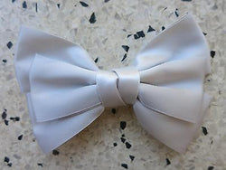 Satin Bow Hair Clip 50s 40s Kitsch PinUp Rockabilly Fascinator White Ivory