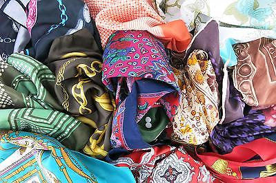 Bulk Lot 14 Vintage Pre Loved Hair Scarves 50s Rockabilly PinUp Scarf Patterned