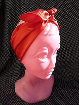 Satin Scarf Hair Scarves 40s 50s Rockabilly PinUp Do-Rag Square Red 10 colours