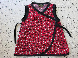 Girls Wrap Conscious Clothing Wrap Dress 1 year 50s Rockabilly Polka Dot Spot