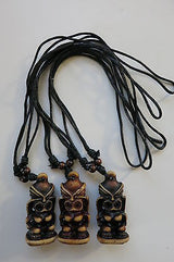 Tiki Necklace Totem in Brown