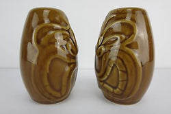 Tiki Salt Pepper Shakers 50s Rockabilly Kustom Kulture Hawaii Tribal Drum Barrel