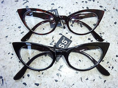 6a97c2846c9 Cat Eye Clear Lens Glasses - Small – Pretty In PinUp
