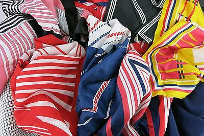 Bulk Lot 11 Vintage Pre Loved Hair Scarves 50s Rockabilly PinUp Scarf Square Rag