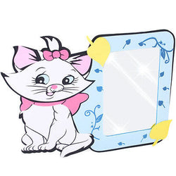 White Cat Mirror Aristocats Pink Bow Marie Mirror Wall Stick On Child Kid Foam
