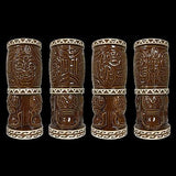 Nari Rani Tiki Mug Tiki Farm Rockabilly Kustom Kulture 50s Hawaii Brown Cream