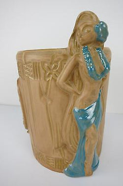 U'i Lani Blue Tiki Mug Tiki Farm Rockabilly Kustom Kulture 50s Hawaii Hula Girl