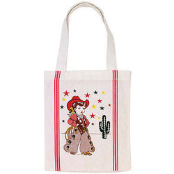 Little Cowgirl Tote Bag 50s Rockabilly Pin Up Western Cactus Shopping Bag
