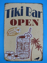 Tiki Bar Tin Sign - Summer Holidays