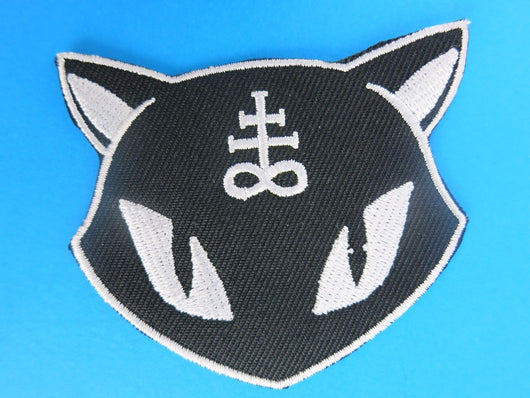 Lucipurr Iron On Patch Black Cat Goth Horror Occult Goth Witch Magic Rockabilly