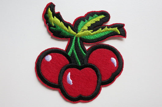 Cherry Bunch Iron On Patch