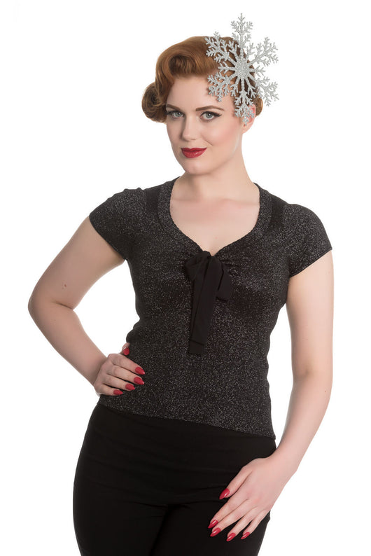Hell Bunny Angette Top Black XS-XL