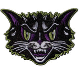Kreepsville 666 Kattitude Iron On Patch Rockabilly Horror Goth PinUp Cat PinUp