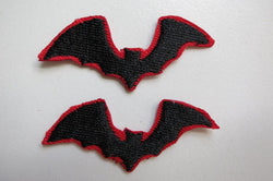 Bat Patch Iron On Black Rockabilly Goth Horror Satan Wicca Devil Vampire Small